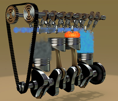 FOUR STROKES ENGINE 3D